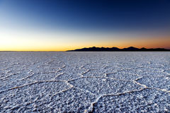 Sunrise at the Salar de Uyuni in Bolivia, South America Stock Photo