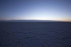 Sunrise on the Salar of Uyuni in the morning, Bolivia Stock Photos