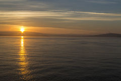 Sunrise on the Salish Sea near San Juan Island Royalty Free Stock Photos