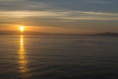 Sunrise on the Salish Sea near San Juan Island Royalty Free Stock Photos
