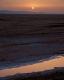 Sunrise at salt dry lake Royalty Free Stock Photography