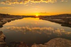 Sunrise at Sam Phan Bok Royalty Free Stock Photography