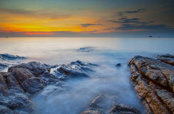 Sunrise at Samed Island, Rayong Province, Eastern of Thailand Stock Photos