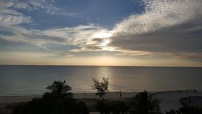 Sunrise on samila beach at Songkhla. Time to travel. Someday not same royalty free stock photo