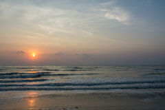 Sunrise at Sampraya beach in Samroiyod nation park, Pranburi,Thailand Royalty Free Stock Images