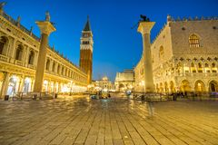 San Marco, Venice, Italy. Sunrise in San Marco, Venice, Italy Stock Photography