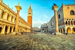 San Marco, Venice, Italy. Sunrise in San Marco, Venice, Italy Stock Images