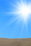 Sunrise  sand  quartz   desert Stock Image