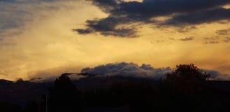 Sunrise Sandia mountains stock photo