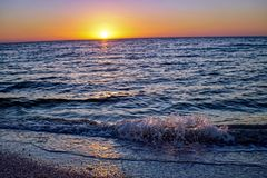Sunrise at Sanibel Beach in Florida Royalty Free Stock Photography