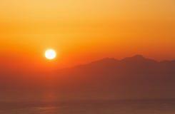 Sunrise on Santorini Stock Photos