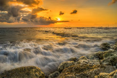 Sunrise at Sanur. Bali Indonesia Stock Images
