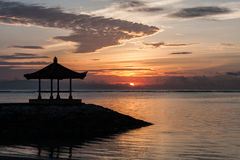 Sunrise on the Sanur beach, Bali, Indonesia.  Stock Photos