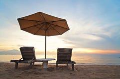 Sunrise on Sanur beach, Bali Stock Photos