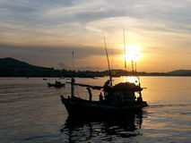 Sunrise at sattahip Royalty Free Stock Photo