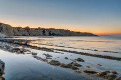 Sunrise at the Scala dei Turchi Stock Image