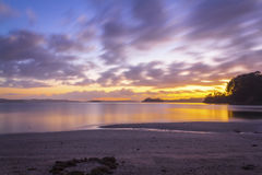 Sunrise at Scandrett Beach Auckland New Zealand. Calm and Peaceful During Low Tide Stock Images