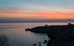 Sunrise scene at Cape Greco Stock Photography
