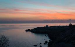 Sunrise scene at Cape Greco Stock Images