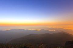 Sunrise at mountain Stock Photos