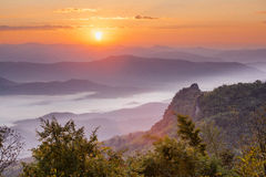 Sunrise scene Royalty Free Stock Photography