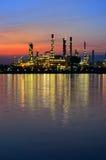Sunrise scene of Oil refinery Stock Photography