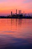 Sunrise scene of Oil refinery Stock Image