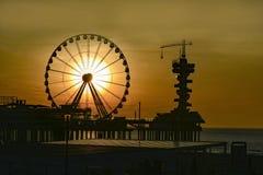 Sunrise at Scheveningen Royalty Free Stock Image