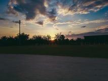 Sunrise in school. Nothing beats sunrise royalty free stock photos