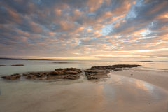 Sunrise Scottish Rocks Australia Royalty Free Stock Image