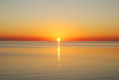 Sunrise in sea Stock Photography