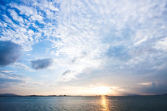 Sunrise on the sea. Sunrise on the east sea of Thailand Royalty Free Stock Photography