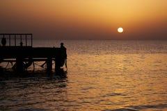 Sunrise at the sea Stock Image