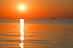 Sunrise at sea Royalty Free Stock Photos