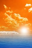 Sunrise on the sea Stock Photography