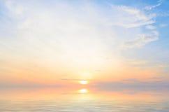 Sunrise at sea. On beach Stock Photos