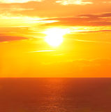 Sunrise in the sea Royalty Free Stock Image