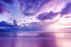 The sunrise and the sea Stock Image