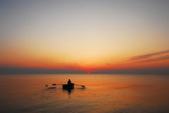 Sunrise at Sea of Azov. Stock Photos