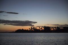 Sunrise on the sea, Bali. Sunrise with the sun in the sea off the coast of Bali, Indonesia Stock Image