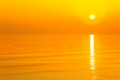 Sunrise at sea Royalty Free Stock Photo