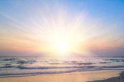 Sunrise at sea Royalty Free Stock Photography