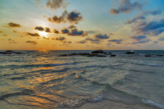 Sunrise sea beach summer. Nature landscape tropical vacation Royalty Free Stock Images