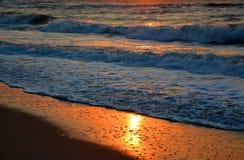 Sunrise on the sea. Beautiful sunrise on the black sea royalty free stock photography