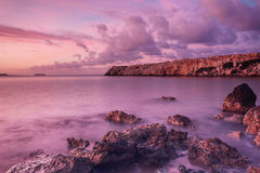 Sunrise at sea Stock Images