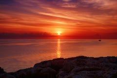 Sunrise at sea Stock Image