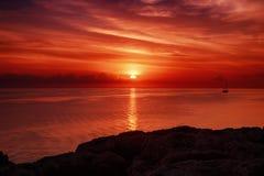 Sunrise at sea Stock Photos