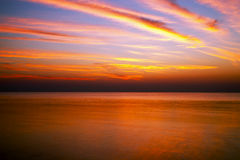 Sunrise in the sea. Beautiful dawn on a background a sea Stock Photography