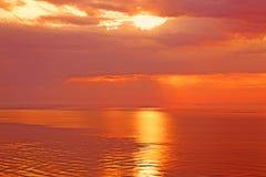 Sunrise on the sea Stock Photo