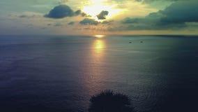 Sunrise in the sea is beautiful. Beautiful sunset over the ocean. Sunrise in the sea is shiny Royalty Free Stock Photography